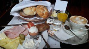 Breakfast in Cafe Louvre